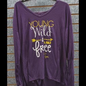Blue 84 LSU Tigers Young Wild And Free Sz XL